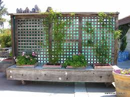 Movable Privacy Fence On Casters With Built In Planters Could Also Be A Bench Privacy Fence Landscaping Fence Landscaping Backyard Privacy