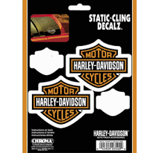 Harley Davidson Motorcycles Window Decal Static Cling Decalz 4pk