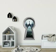 3d Keyhole Wall Decal Queen Of Hearts Castle Alice In Wonderland Portal Hole 15 99 Picclick