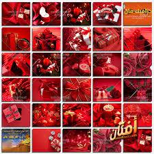 خلفيات خلفيات فوتوشوب حمراء مع علب هدايا لتصاميم المناسبات عالي