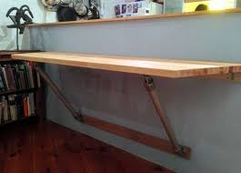 how to make a wall mounted bar table