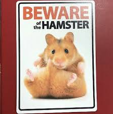 Beware Of The Hamster Sign Plastic A5 8 X 6 Warning Fence Gate Window Garage 5060194117545 Ebay