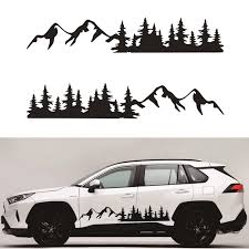 2pcs Black Car Sticker Tree Mountain Decal Forest Vinyl Graphic For Camper Rv Trailer Truck Custom Sticker Car Stickers Aliexpress