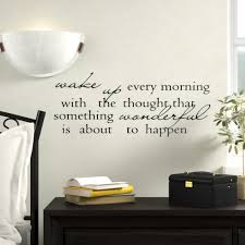 Winston Porter Wake Up Every Morning With The Thoughts That Something Wonderful Is About To Happen Wall Decal Reviews Wayfair