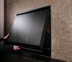 gas fireplace screen with images
