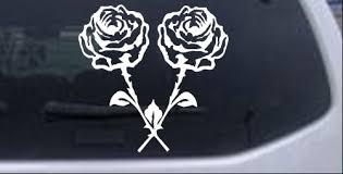Long Stem Roses Car Or Truck Window Decal Sticker Rad Dezigns