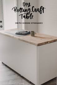 diy craft table with storage lemon