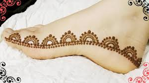 new foot mehndi design simple 2018