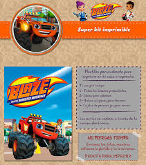 Kit Imprimible Blaze And The Monster Machines Facebook