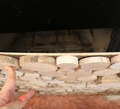 diy faux wood log fireplace screen 1 4