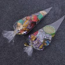 candy cone bags cellophane party sweet