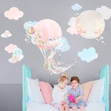 Dreamy Pink Balloons Wall Decal Wall Stickers Bedroom Girl Bedroom Walls Wall Sticker