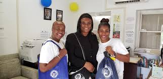 """St. John DLCA is in full swing for Consumer Protection Week. Come on down  to """"The Battery"""" Licensing Officer, Estellita Petersen (left), Deputy  Commissioner Myrna George (center) and our St. John Coordinator,"""