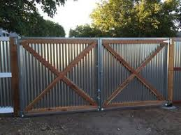 Photo Of Aanco Fence Spring Valley Ca United States Metal Gate Corrugated Metal Fence Privacy Fence Designs Fence Design