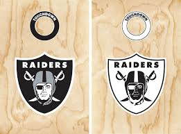 Amazon Com Set Of 17 Raiders Stickers For Cornhole Decal Oakland Football Everything Else