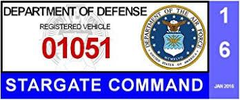Cheyenne Mountain Military Base Parking Decal Stargate Sg1 Fgaidnseujf16