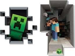 Amazon Com Jinx Minecraft Wall Cling Decal Set Creeper Steve Home Improvement