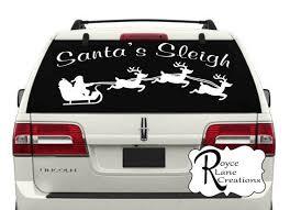 Christmas Car Decal Santa 39 S Sleigh Car Decal Hs10 Christmas Wall Decal Christmas Decoration Chri Christmas Decals Christmas Wall Decal Christmas Car