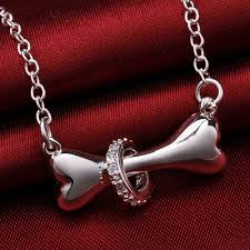 silver dog bone necklace top pet gifts