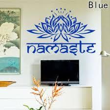 Lotus Flower Decal Namaste Vinyl Sticker Wall Art Namaste Golden