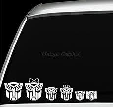 Autobot Family Vinyl Decal Window Sticker Vinyl Decals Window Stickers Car Decals Vinyl