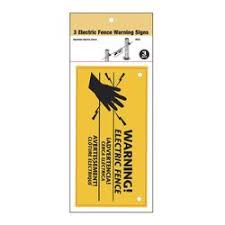 Zareba Electric Fence Warning Signs 3 Pieces At Menards