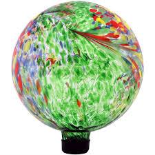 sunnydaze green artistic gazing globe