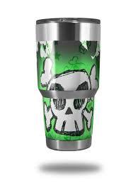 Yeti Ozark Trail Tumbler 30oz Skin Wraps Cartoon Skull Green Uskins