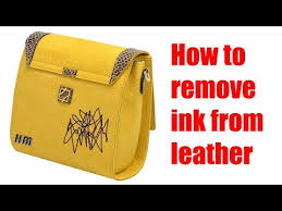 how to remove ink from leather you