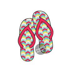 Flip Flops Car Decal Colorful Tribal Chevron Flipflop Sandal Etsy