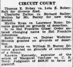 Myrtle Ryan vs Laurence Ryan divorce granted - Newspapers.com