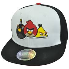 Angry Birds Video Game Fire Bomb The Crew Flat Bill Two Tone Snapback Hat  Cap - Cap Store Online.com