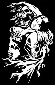 Amazon Com Grim Reaper Skull Girl Monster Zombie Truck Window Vinyl Decal Sticker Handmade