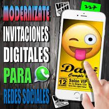 Invitacion Digital 227 Cumpleanos Emojis Caritas 99 99