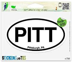 Amazon Com Pitt Pittsburgh Pa Oval Vinyl Car Bumper Window Sticker 3 X 2 Automotive