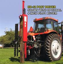 Shaver Post Driver Model Hd 12 Tractor 3pt Hitch Hydraulic Post Driver 100 000 Lbs Driving Force 10 Capacity Manual Tlt