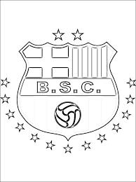 Kleurplaat Barcelona Sporting Club Embleem Gratis Kleurplaten