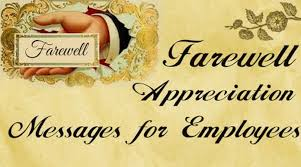 farewell appreciation messages for employees
