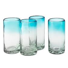 ombre mexican hand blown glasses