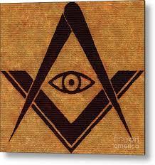 Freemason, Masonic, Symbols Metal Print by Esoterica Art Agency