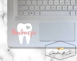 Tooth Decal Dental Hygienist Decaldental Assistant Decal Etsy