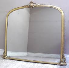 imw2265 stunning antique overmantle mirror