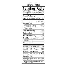 orange juice calcium vitamin d