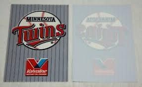 Minnesota Twins Window Cling Decal Valvoline Ebay
