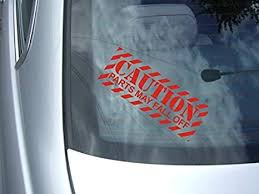 Amazon Com Caution Parts May Fall Off Vinyl Car Decal Everything Else