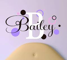 Amazon Com Lucylew Girls Name With Polka Dots Peel And Stick Wall Decal Handmade