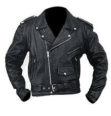 mc men biker leather jacket leather