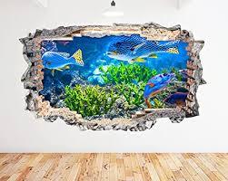 K159 Aquarium Fish Ocean Sea Coral Wall Decal Poster 3d Art Stickers Vinyl Room