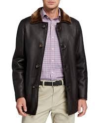 brown leather jacket neiman marcus