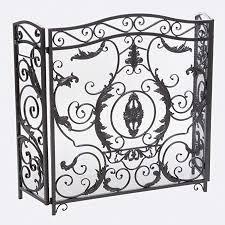 fl iron fireplace screen